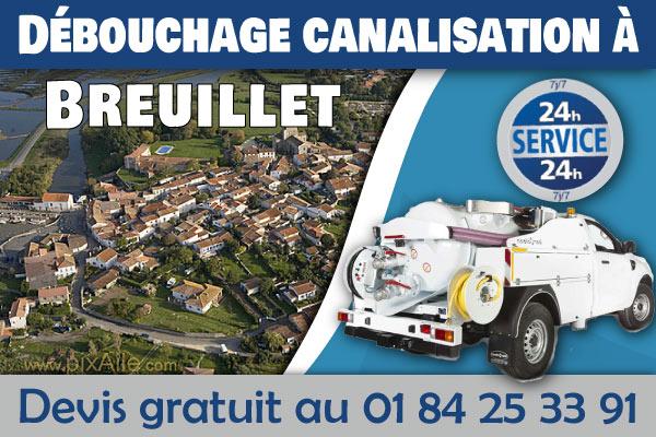 Debouchage-Canalisation-Breuillet