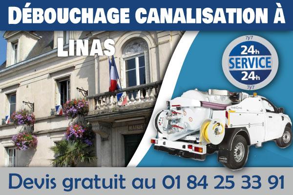 Debouchage-Canalisation-Linas
